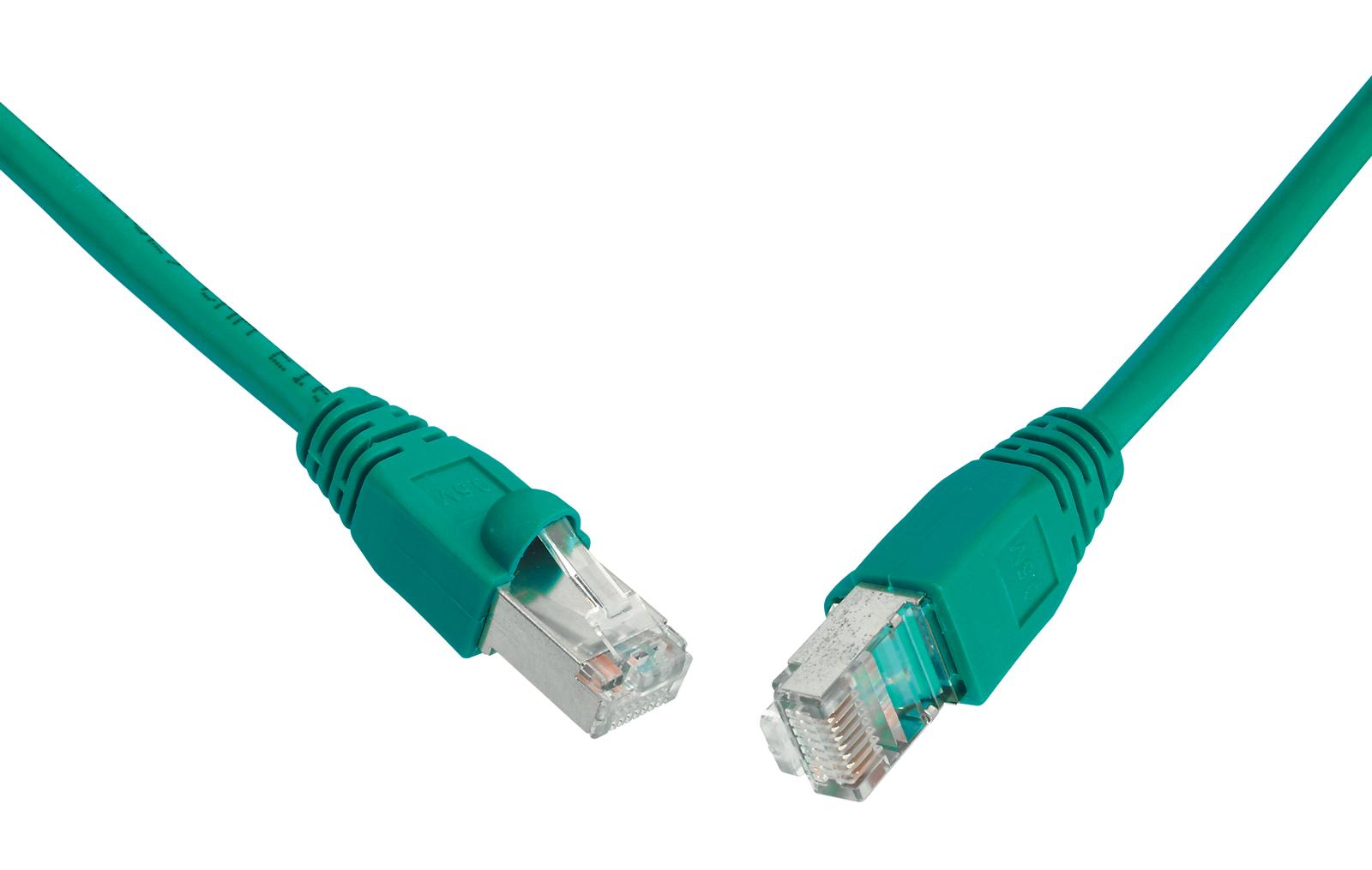 SOLARIX patch kabel CAT6 UTP PVC 1m zelený snag-proof - C6-114GR-1MB