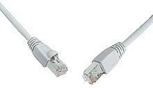 Patch kabel CAT5E SFTP PVC 10m šedý snag proof