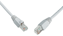 Patch kabel CAT5E SFTP PVC 15m šedý snag proof