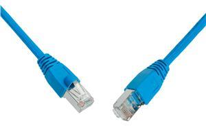 Patch kabel CAT6 SFTP PVC 10m modrý