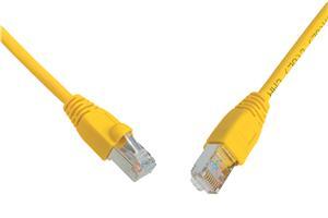 Patch kabel CAT6 SFTP PVC 0,5m žlutý
