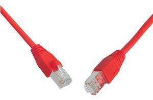 Patch kabel CAT6 SFTP PVC 0,5m červený