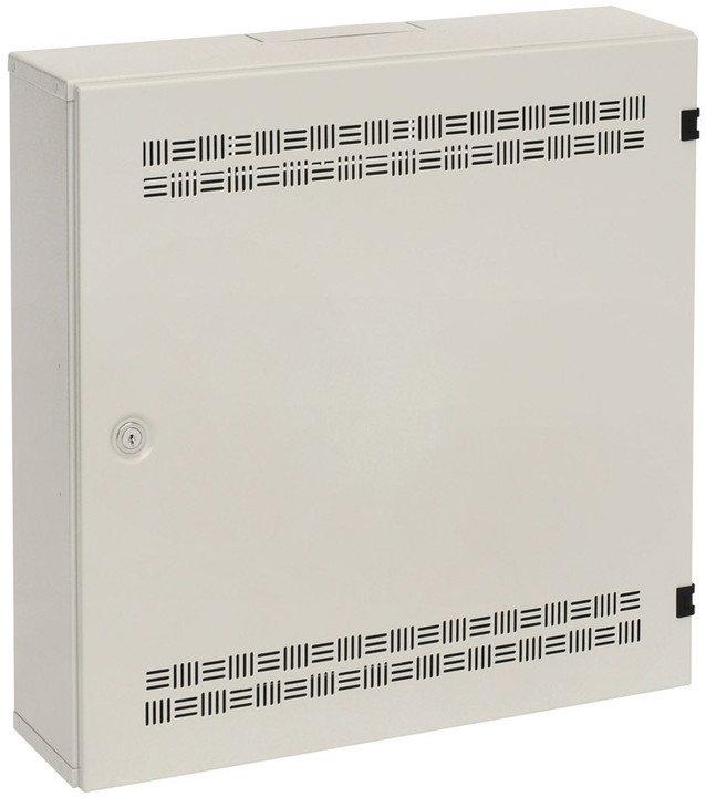 Rozvaděč SOHO nástěnný LC-18 s lištami 2U, 4U a 11U, 550x550x150mm šedá RAL 7035 - 86000541