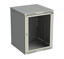 Rack nástěnný Sensa 15U 600mm,dv.sklo, šedý - SENSA-15U-66-11-G