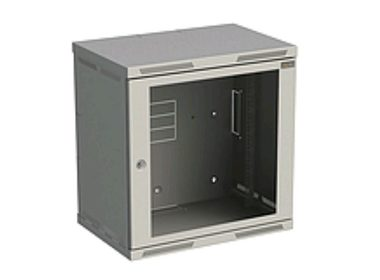 Rozvaděč nástěnný SENSA 12U 400mm, dveře sklo, RAL 7035, SENSA-12U-64-11-G - SENSA-12U-64-11-G