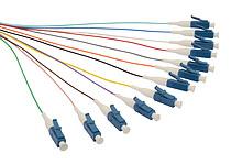 Pigtail 9/125 LCupc SM OS 1,5m, balení 12ks barvy - SXPI-LC-UPC-OS-1,5M-12PCK