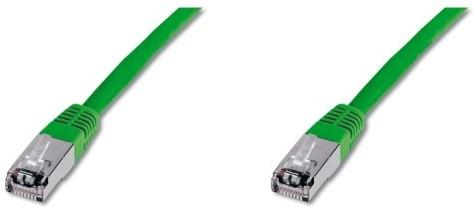 Patchkabel S/FTP,Cat6,2xRJ45, 1m zelený
