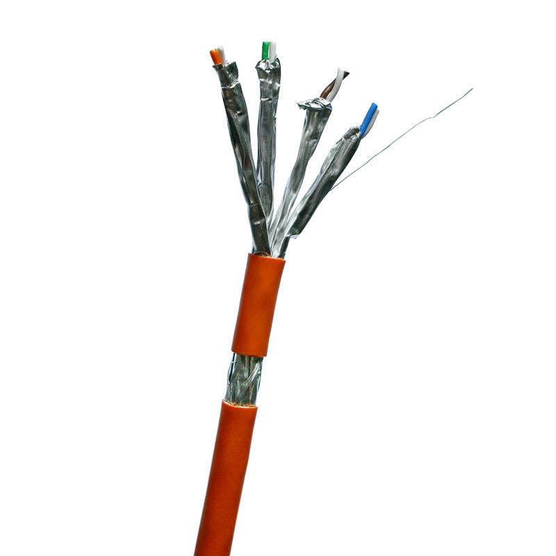 DATACOM S/FTP drát CAT7  LSOH  100m oranžový