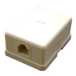 DATACOM Tel. jednozásuvka nad omítku - 1 x RJ11 - 2305