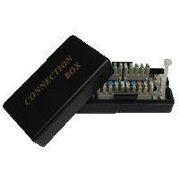 Spojovací BOX UTP Cat5e (2* zářez. pole)