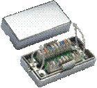 Spojovací BOX STP Cat5e (2* zářez. pole) Silver