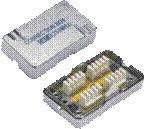Spojovací BOX STP CAT6 (2* zářez. pole) Silver
