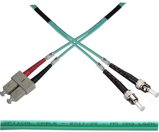 Optický patch kabel duplex SC-ST 50/125 MM 2m OM3