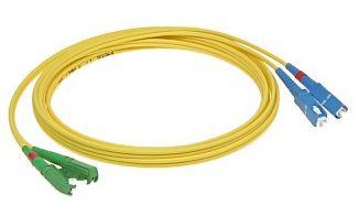 Patchcord FO duplex E2000/APC-SC/PC 9/125um SM 7m