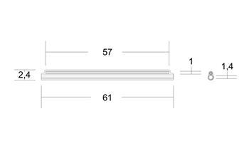 Trubičková Ochrana Optického sváru 61mm průhledná 100ks - 35892