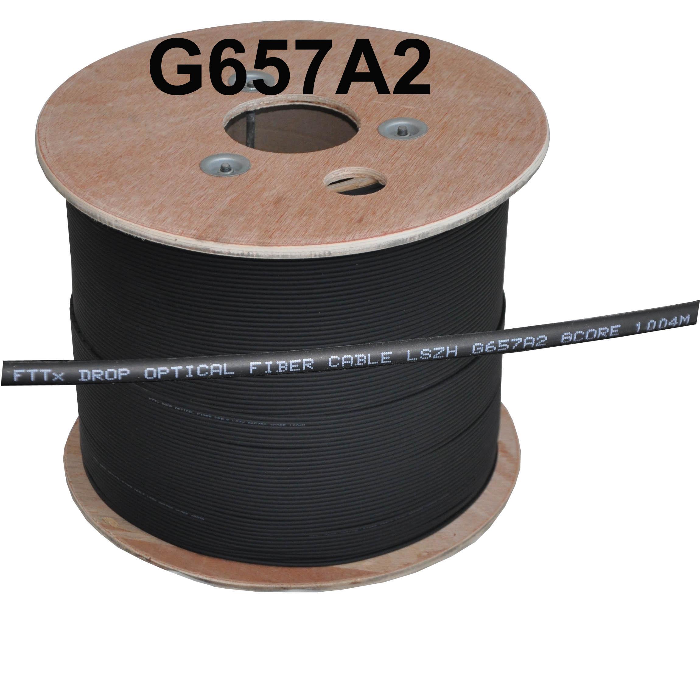 8vl. 9/125 FO DROP FTTx black LSOH G.657A2