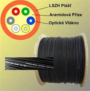 8vl.9/125 SM FTTX optický kabel, G.657A Black LSOH