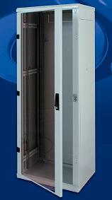 Stojanový rozvaděč 15U (š)600x(h)600, skleněné dveře - RMA-15-A66-CAX-A1