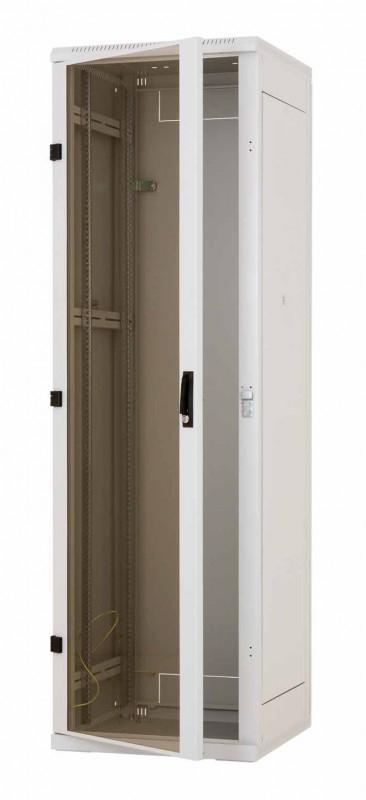 Stojanový rozvaděč 18U (š)600x(h)1000 plech.dveře