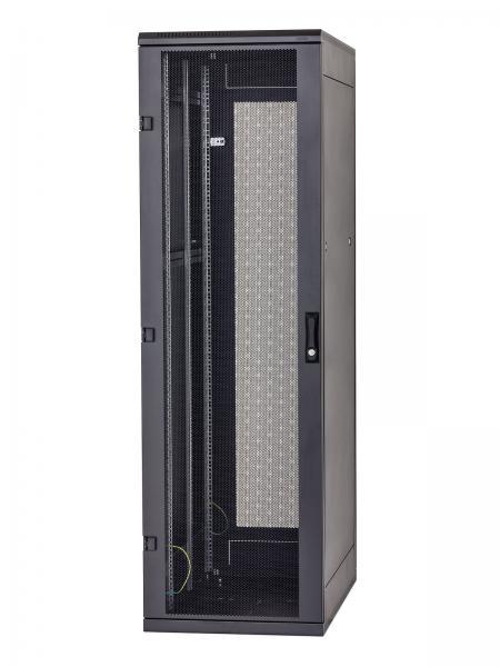 Stojanový rozvaděč 37U (š)600x(h)800 perfor.dveře, černý - RMA-37-L68-BAX-A1
