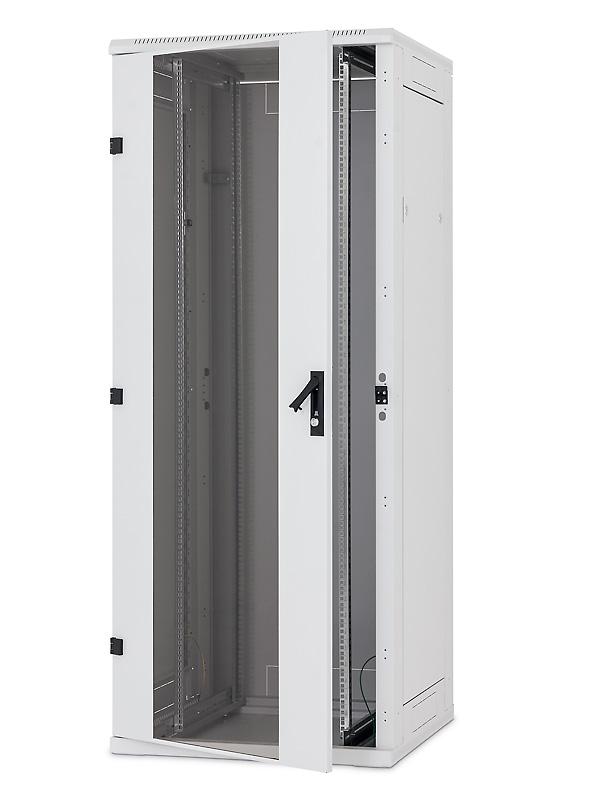 19' rozvaděč stojanový 42U/600x1200, typ RT, dv. síto 80%-6mm, RAL7035, nosn.1200/1500kg