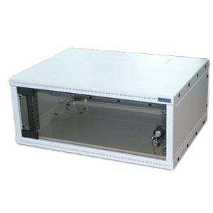 19 rozvaděč jednodílný 6U/400mm FLAT-PACK skl.dv.
