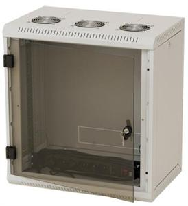 Nástěnný rack RUA 12U/500mm odn.boč+skl.dv.
