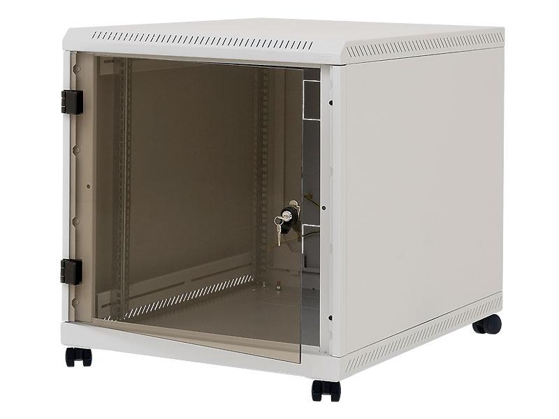 19'' kontejner.rack12U,hl.900,nosn.200kg,přední+zadní perfor.dveře, šedý