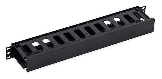 19' vyvazovací panel 1U plastový RAL9005