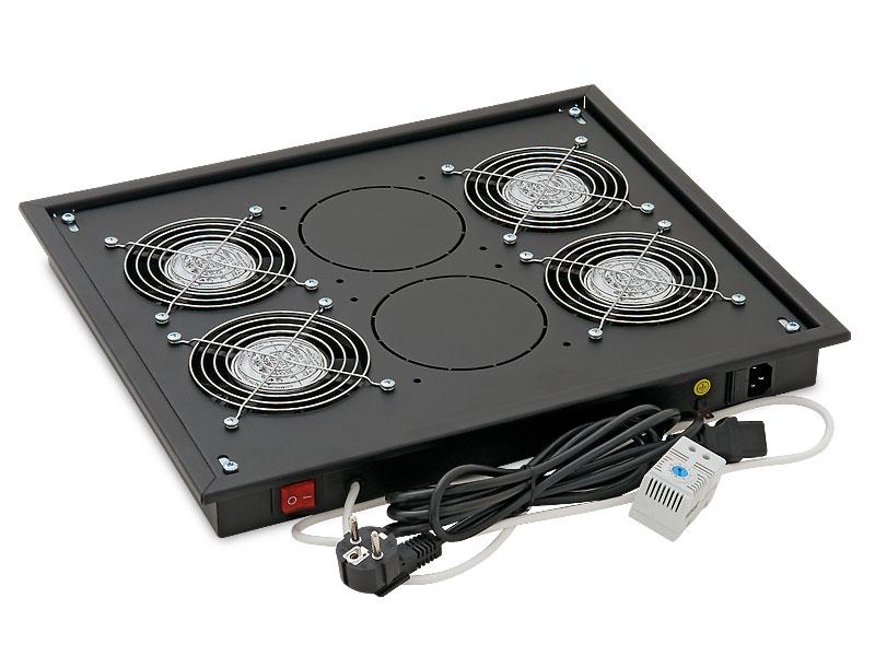 Vent.j. horní(spodní) 4x ventilátor 220V/60W Černá - RAB-CH-X04-X3