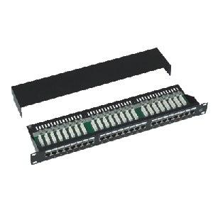 DATACOM Patch panel Cat5e 24p.1U,STP,19'',černý,vyvázání - 3101