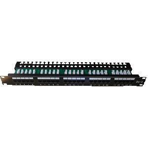 Patch panel ISDN 25p.1U Integrovaný  BLACK, 19