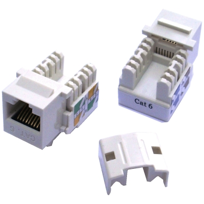 Keystone cat6 white UTP