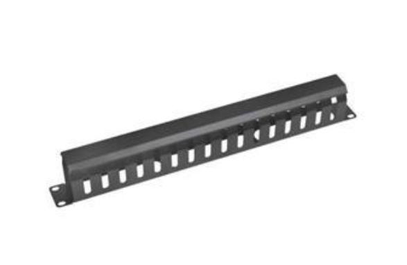 Vyvaz.panel 19''1U kov Lišta Průchozí černý 65mm hl -