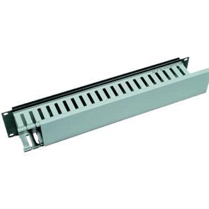 Vyvazovací panel 2U 19'' s plastovým kabelovodem - RAB-VP-X04-A1