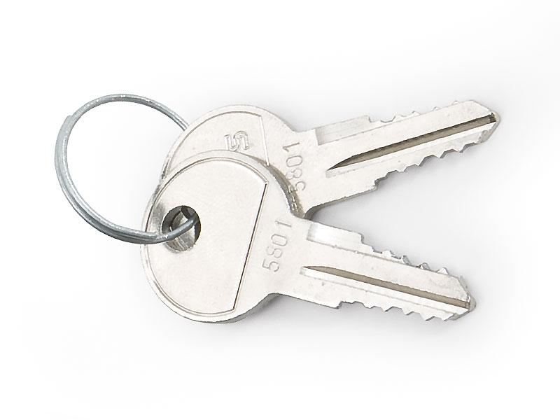 Klíč pro nástěnné a stojan. racky, 2ks na kroužku - RAX-MS-X10-X1