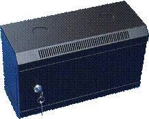 10  rack jednodílný 4U/140 DATACOM černý plech.dv.