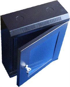 10'' rack jednodílný 9U/140 DATACOM černý Skl. dv.