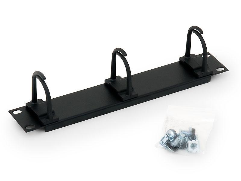 10  vyvazovací panel černý 1U 3x plast