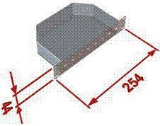 10'' optická vana pro 8 spojek ST