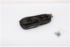 10' 4xCZ zásuvka,kontrolka,3x1.5mm-2m kabel