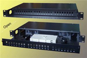 19'' Optická vana 24xST simplex včetně kazety černá