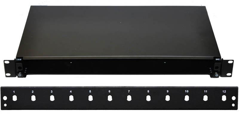 19'' Optická vana 12xST simplex včetně kazety černá