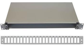 19'' Optická vana 24xSC duplex včetně kazety šedá