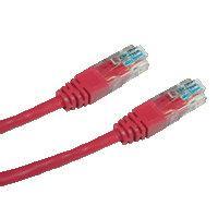 DATACOM patch cord UTP cat5e 1M červený