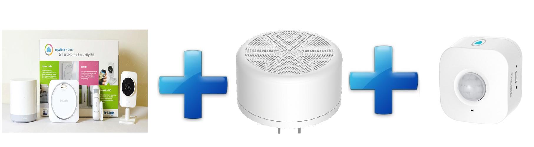 D-Link Bundle Home Security Starter Kit+Home Siren+Wi-Fi Motion Sensor