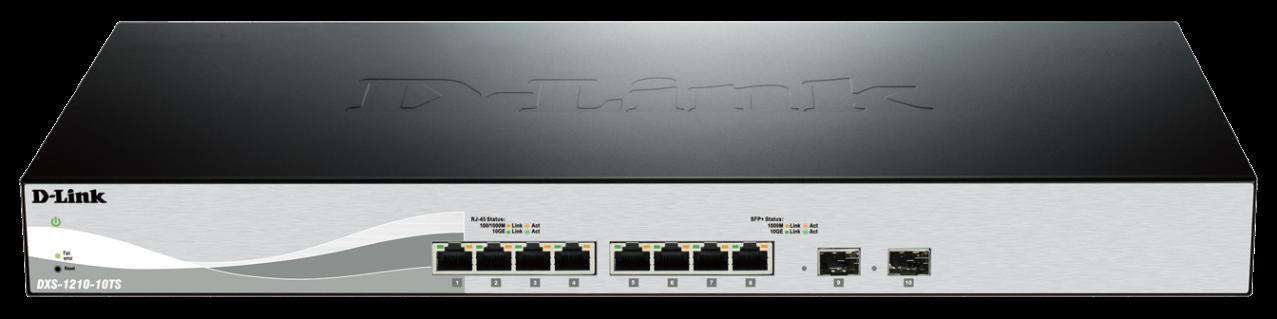 D-Link DXS-1210-10TS 8x10GbE 2xSFP+ switch - DXS-1210-10TS