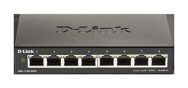 D-Link DGS-1100-08V2 Easy Smart Switch 10/100/1000 - DGS-1100-08V2/E
