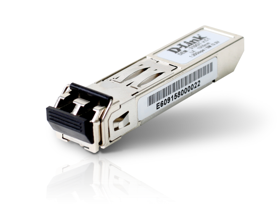 D-Link 1-port Mini-GBIC SFP to 1000BaseLX, 10km, DEM-310GT - DEM-310GT