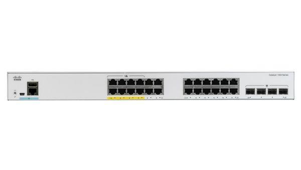 24x 10/100/1000 Ethernet ports, 4x 1G SFP uplinks